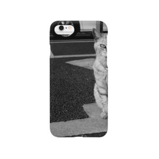 道端の猫 Smartphone cases