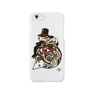 スチームパンクな奇術蛙 Smartphone cases