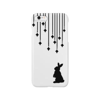 きらきらうさぎ(黒)iPhone6/6-plus Smartphone cases