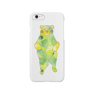 新緑くまさん Smartphone cases