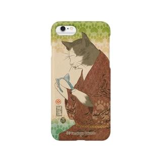 猫浮世絵シリーズ 猫の日猫 A Smartphone cases