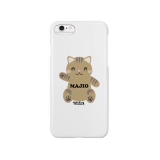 オリジナルニャンコ(majio店長Ver) Smartphone cases