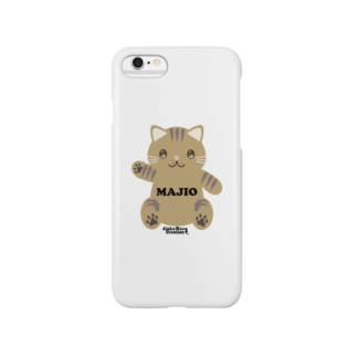 株式会社猫 (Aloha Mac Creation)のオリジナルニャンコ(majio店長Ver) Smartphone cases