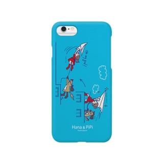 Hana & PiPi 紙飛行機 Smartphone cases
