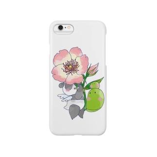 バラとまめぱんだ Smartphone cases