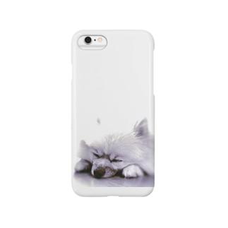 すやすや②-モノクロ- Smartphone cases
