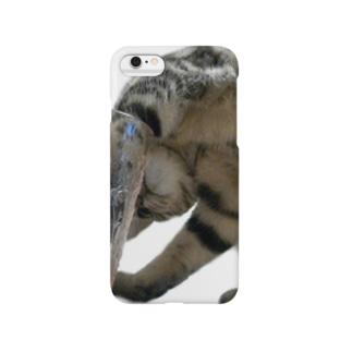 暑い日は、猫と氷の真剣勝負! Smartphone cases