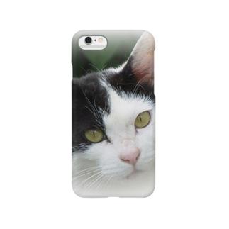 ぶち猫「さつき」顔 Smartphone cases