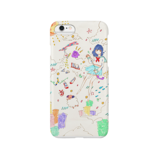 Natural ribbonの空中浮遊 色恋ver. Smartphone cases