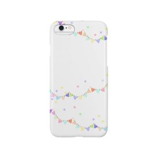 カラフルフラッグ(ホワイト) Smartphone cases