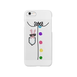 ピョコッ (ご機嫌サングラスrabbit) Smartphone cases