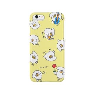 とりもちの一日(イエロー) Smartphone cases