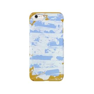 夏っぽいペイント Smartphone cases