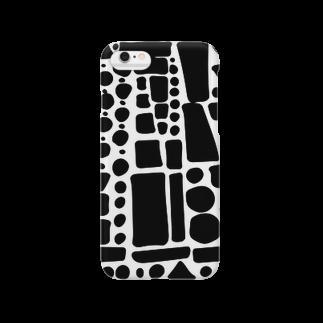 FLUFFY のブラックぽたぽたぽふぽふ Smartphone cases