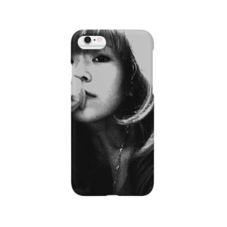 monochrome girl Smartphone cases