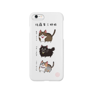iPhone6用 [佐藤家ペットシリーズ] にゃんこ三姉妹 Smartphone cases