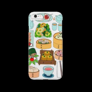 らぴの堂の飲茶のセット Smartphone cases