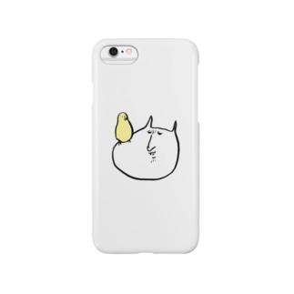 やさぐれねこ(鳥乗り) Smartphone cases