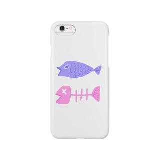 パステルフィッシュ・パフィー Smartphone cases