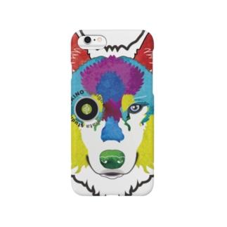狼-絵具 Smartphone cases