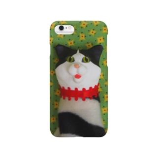 ねこちゃん指人形 Smartphone cases