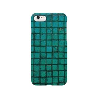 やのタイル(わびさびブルー) Smartphone cases