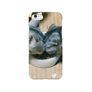 *猫シリーズ*ポロマロラブラブにゃん❤ Smartphone cases
