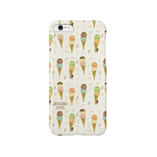 happy ice cream Smartphone cases