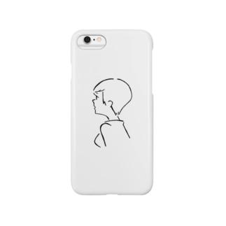 ガールフレンドショートヘア Smartphone cases