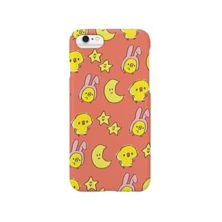 ぴよたそカバー(ピンク) Smartphone cases