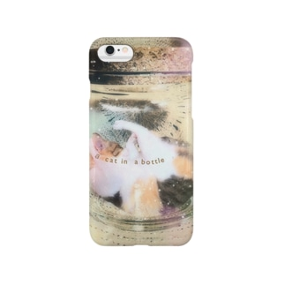 a cat in a bottle Smartphone cases