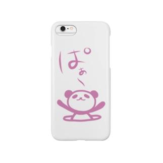 ぱぁ〜 ぱんちゃんのスマホケース(ピンク) Smartphone cases