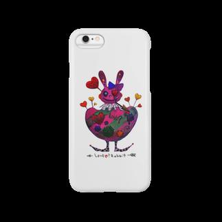 """ゐろゐろ屋の""""LOVE?""""うさぎ(WHITE) Smartphone cases"""