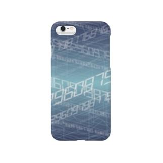 電脳空間 青 Smartphone cases