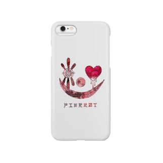 PIERROT(WHITE) Smartphone cases