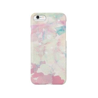 テクスチャ(ピンク) Smartphone cases