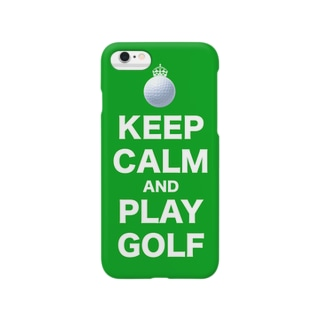 KEEP CARM AND PLAY GOLF Smartphone cases