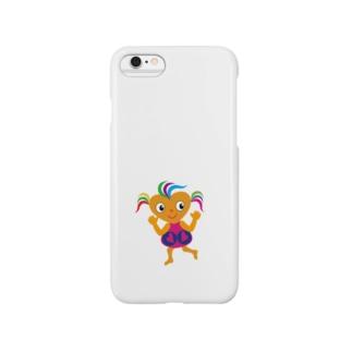可愛い女の子 ビザコちゃんグッズ Smartphone cases