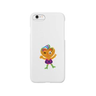 可愛い女の子ビザコちゃんのピース Smartphone cases