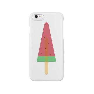 すいかアイス Smartphone cases