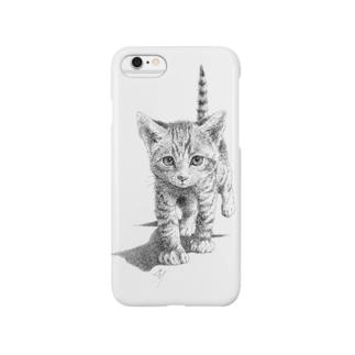 かぎねこ(モノクロ)③ Smartphone cases