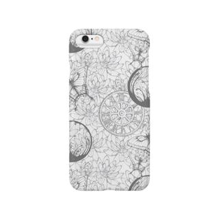 蓮と蝶 Smartphone cases