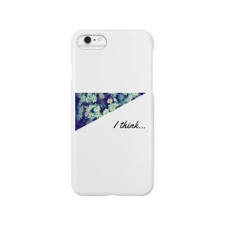 水色の花シリーズ Smartphone cases