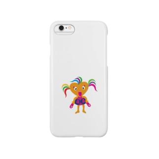 可愛い女の子ビザコちゃんグッズ Smartphone cases