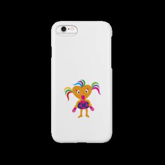 ジルトチッチのデザインボックスの可愛い女の子ビザコちゃんグッズ Smartphone cases