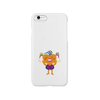 可愛い女のコビザコちゃんのバイバイグッズ Smartphone cases