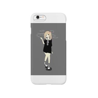 喫煙ガール Smartphone cases
