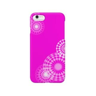 pink swirls Smartphone cases
