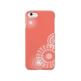 orange swirls Smartphone cases