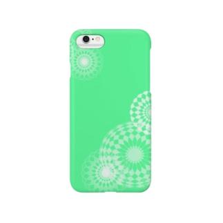 green swirls Smartphone cases